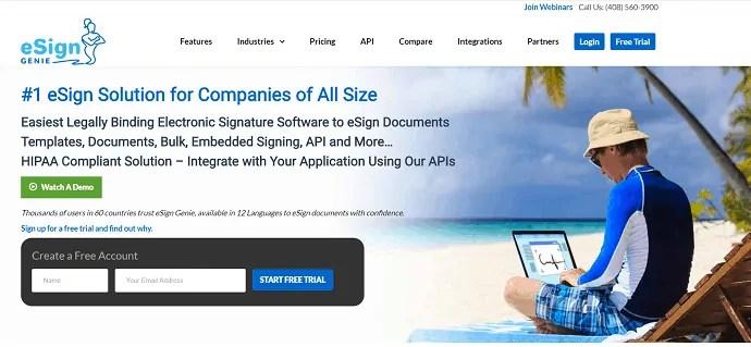 eSign GENIE-Online Signature-Software-Ite-Homepage.