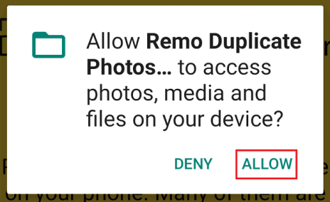 give permissions