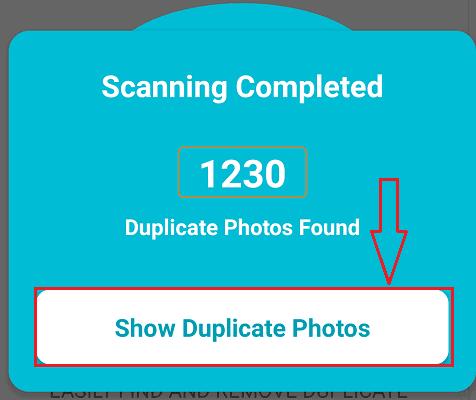 show duplicate photos option
