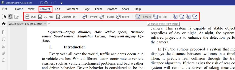 Convert PDF with PDF element.