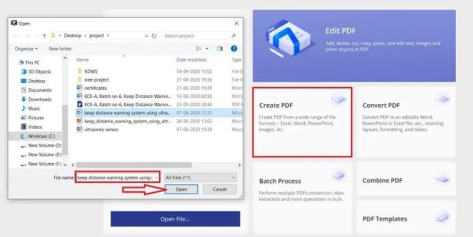 PDFelement conversion to PDF