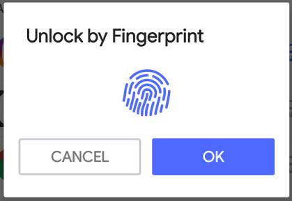 use finger print