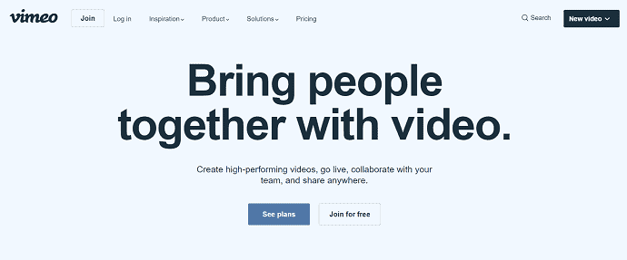 Vimeo-A-YouTube-compitator-Homepage.