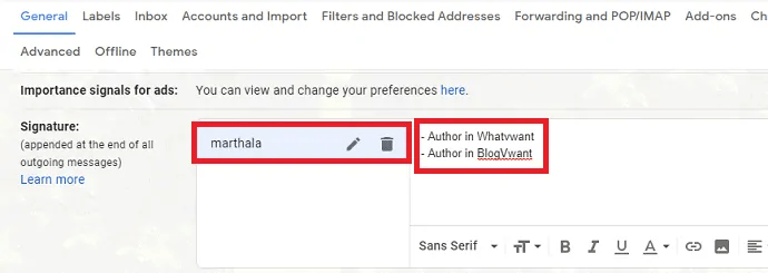 How to Add or Change or Customize Gmail Signature 6
