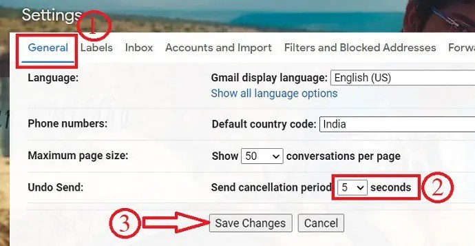 Gmail unsend option