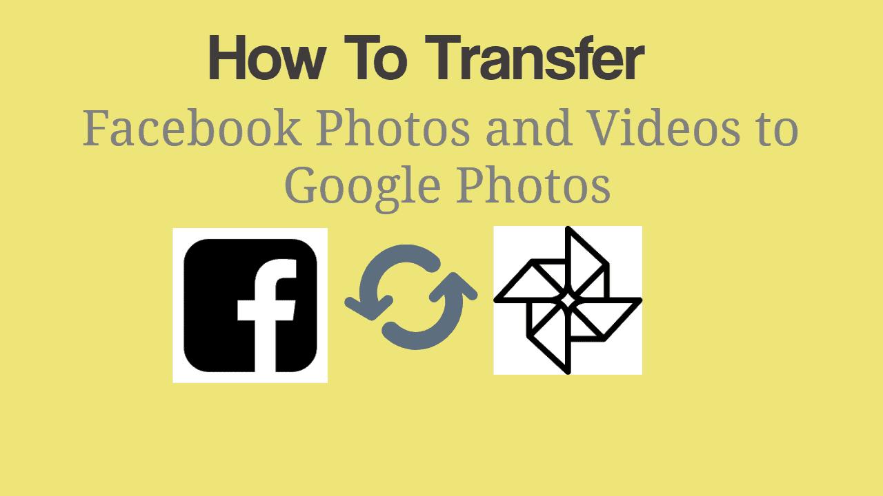 Transfer Facebook Photos and Videos