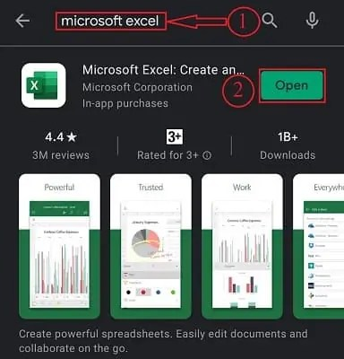 Microsoft excel android download