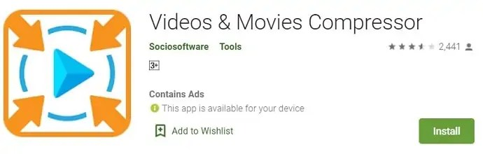 Videos and movies compressor android application