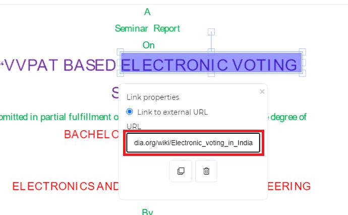 Adding Link in DeftPDF