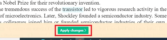 Apply Changes - Sejda
