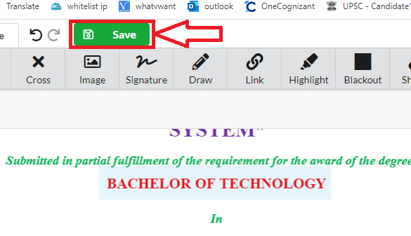 Save option in DocFly