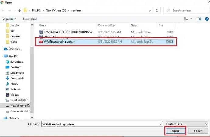 Import File for SmallPDF