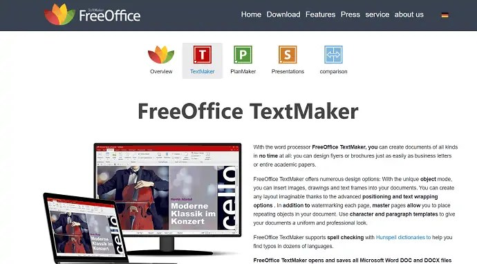 FreeOffice Text Maker official site.