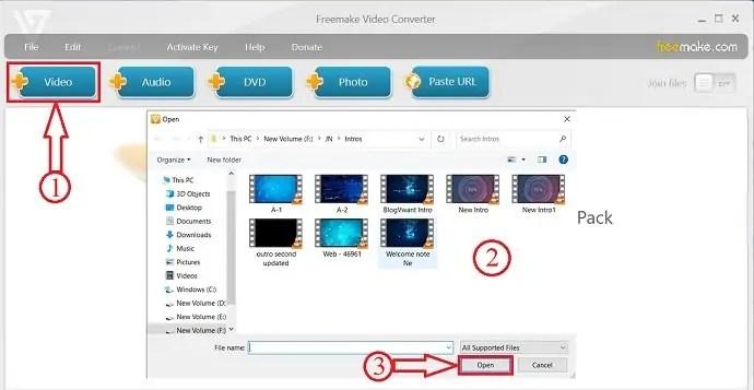 Freemake Video Converter application