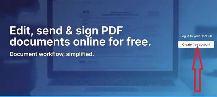 Select Create a free account option