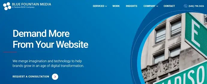 Blue Fountain Media - Web design company