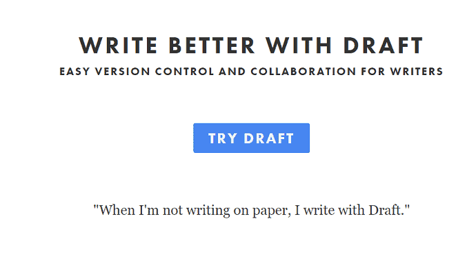 Draft- Free writing software