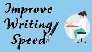 Improve Writing speed