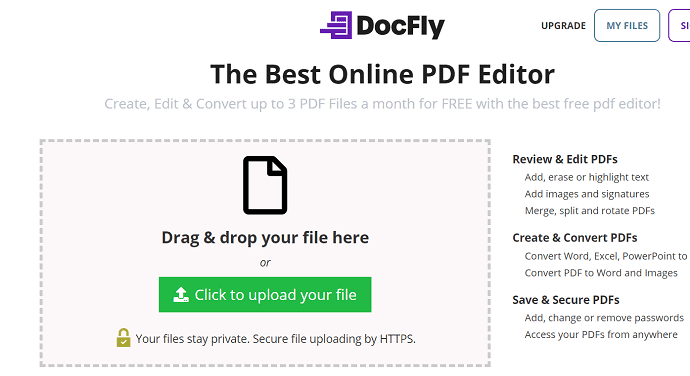 Drag and upload the file.