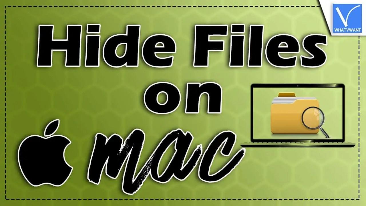 Hide file on Mac