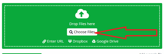 Click on choose file option.