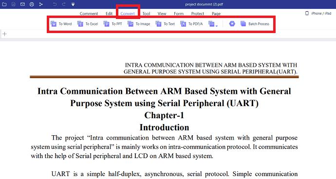 Convert PDF with PDFelement