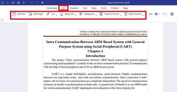 Edit PDF with PDF element