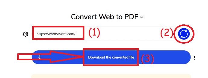 Web2PDF converter online tool