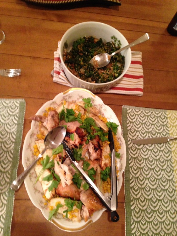 Chicken with spicy Tuscan kale