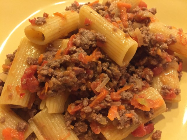 midnight bolognese plate