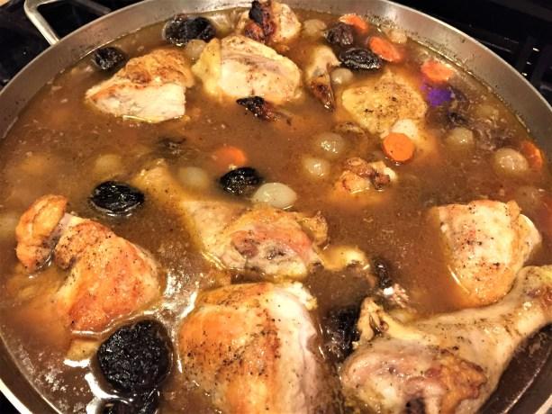 braise chicken and prunes