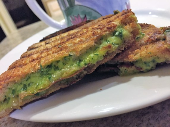 Grilled cheese spinach