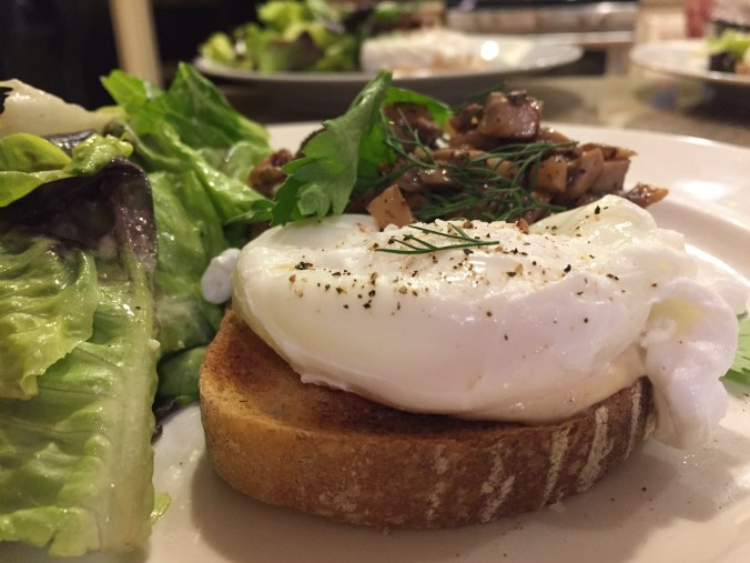 Mushroom tahini toast