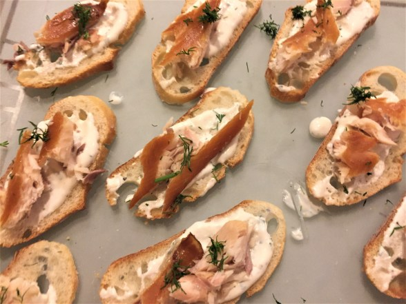 Trout tartines