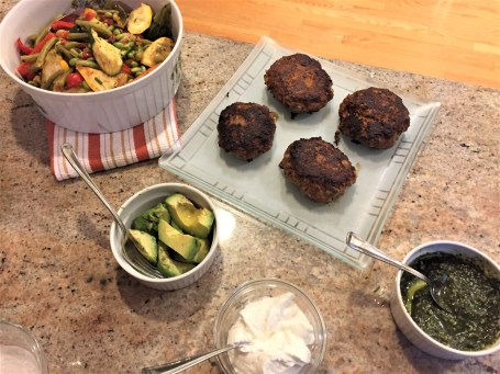 Indian turkey burgers