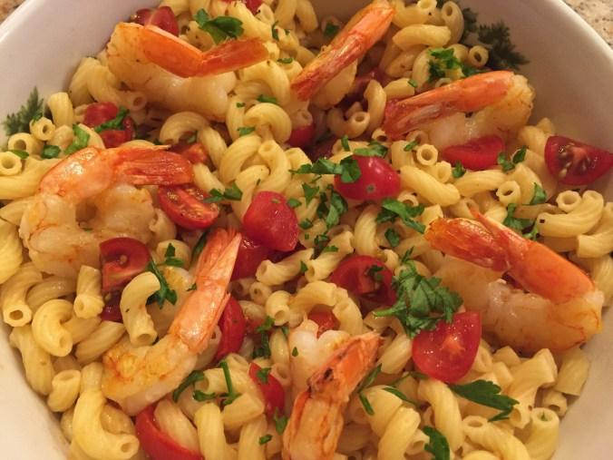 Macaroni and shrimp