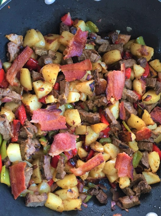 Hash with bacon