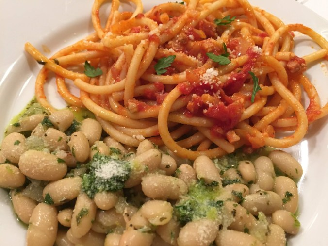 Bucatini and beans