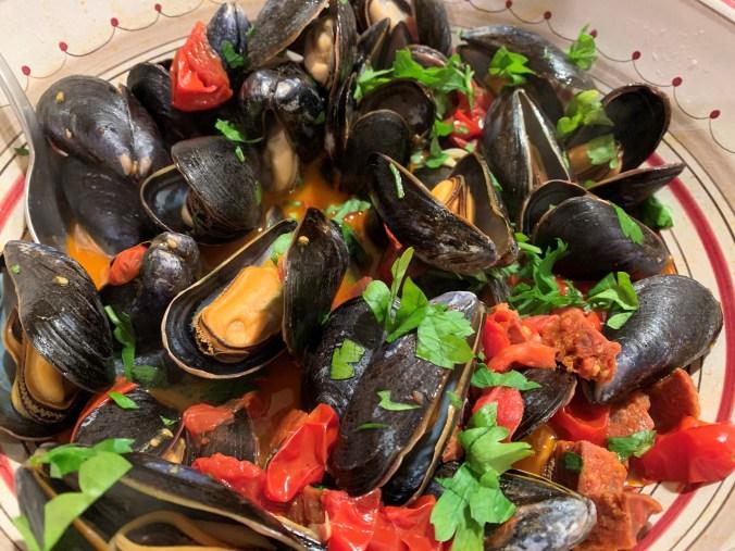 Mussels chorizo