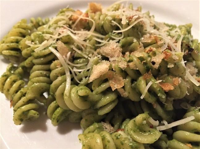 Pasta with evolved pesto (2)
