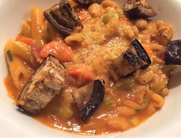 Pasta fizool with eggplant (2)
