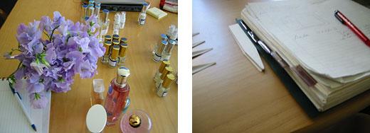 perfumer's desk