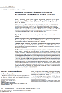 Endocrine treatment of transsexual persons: an Endocrine Society clinical practice guideline