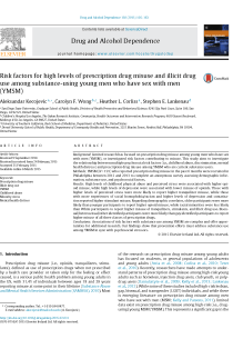 Risk factors for high levels of prescription drug misuse and illicit drug use among substance-using young men who have sex with men (YMSM).