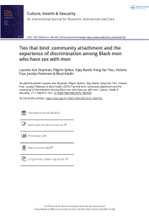 Ties that bind: community attachment and the experience of discrimination among Black men who have sex with men.