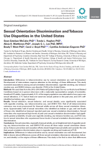 Sexual orientation discrimination and tobacco use disparities in the United States.