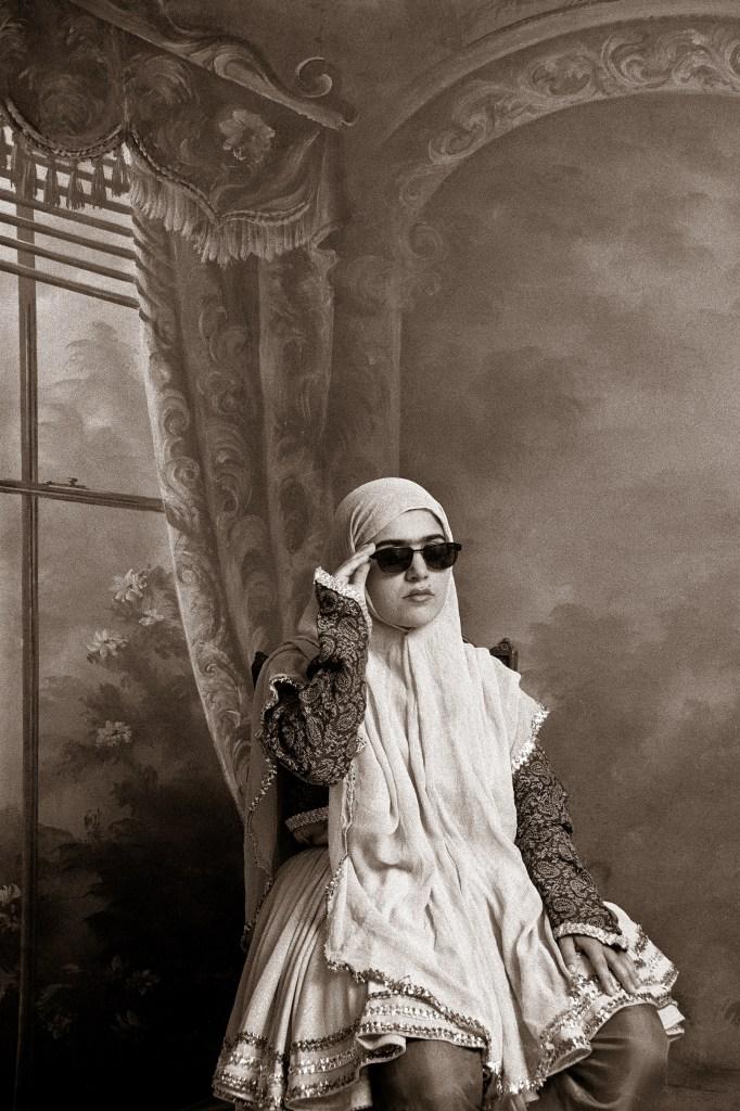 """""""Qajar #9, 1998"""" gelatin silver print by Shadi Ghadirian (Courtesy of Howard Greenberg Gallery, NY)"""