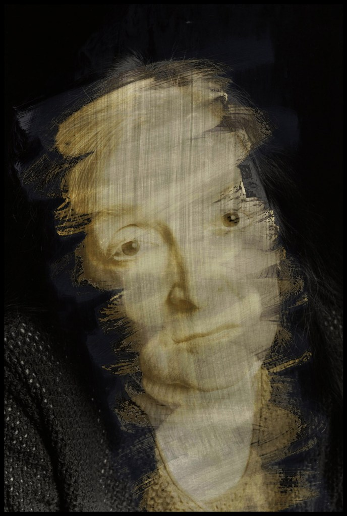 """""""Burns Facial Wrap"""" archival inkjet print by Marky Kauffmann (courtesy of the artist and Nesto Gallery)"""