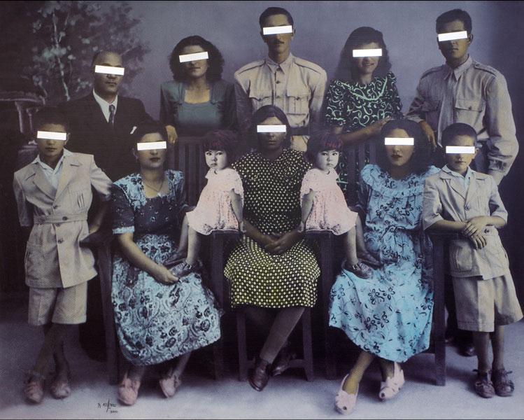 """No. 10, The Double, 2010"" mixed media by Samira Alikhanzadeh (courtesy of Robert Klein Gallery, Boston)"