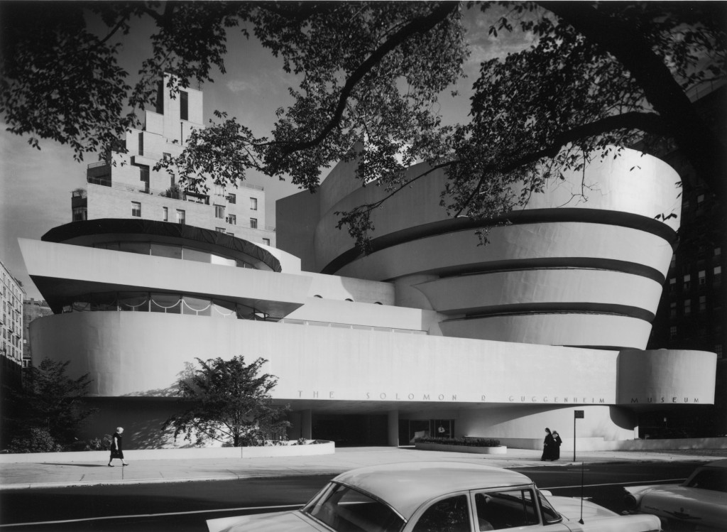"""""""Guggenheim, 1959"""", 16x20"""" gelatin silver print by Ezra Stoller, from the first exhibit at Gallery Kayafas in April 2003 (courtesy of the Ezra Stoller Estate and Gallery Kayafas, Boston)"""
